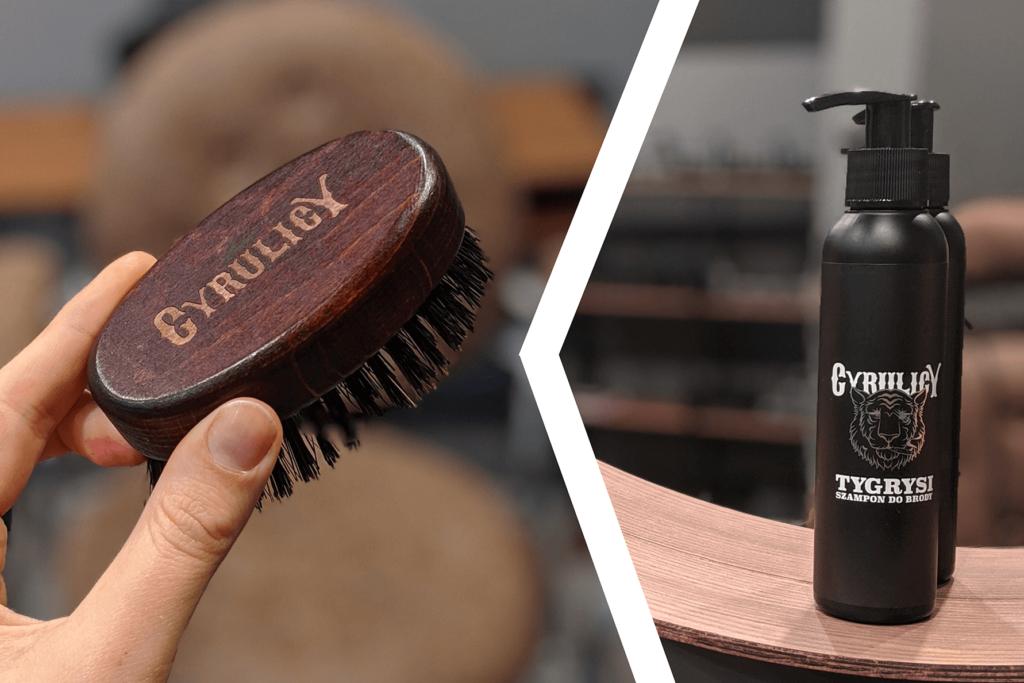 kartacz z dzika i delikatny szampon do brody